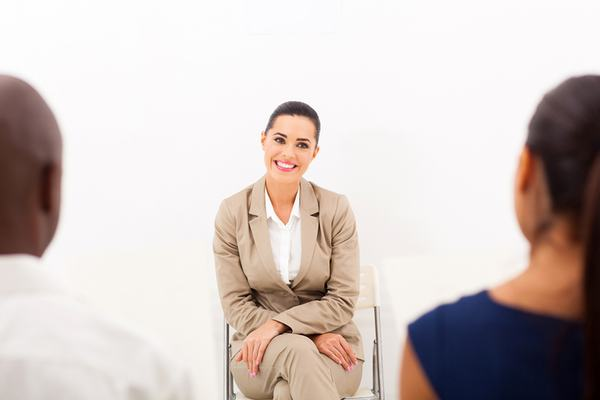 confident in a job interview