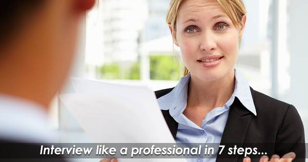 Interview Like a Professional (Even When You Aren't One)