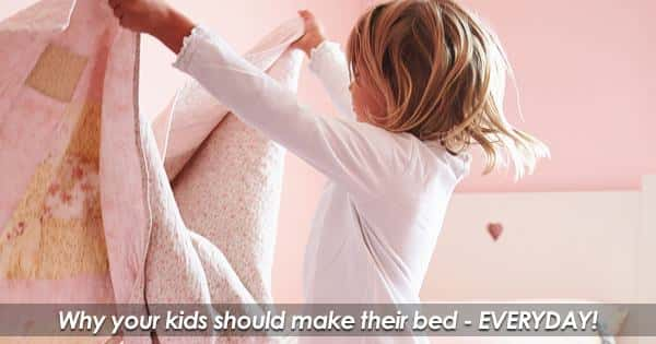 Why your kids should make their bed every day